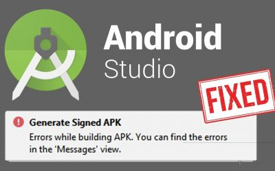 Errors while building APK Generate Signed 'Lint found fatal errors' Android Studio (FIXED)