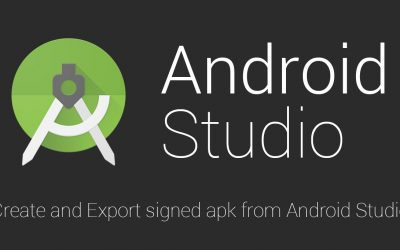 Create and Export signed apk from Android Studio