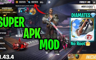 SUPER APK MOD FREE  FIRE V1.43.4 DIAMANTES ACTUALIZADO 2020/ANTIBAN/AUTO AIM/AUTO ASSIT/NO ROOT!!
