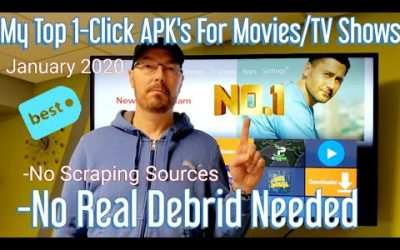 My Top 1-Click Movie/TV Show APK's Right Now! January 2020 | Amazon Fire Stick