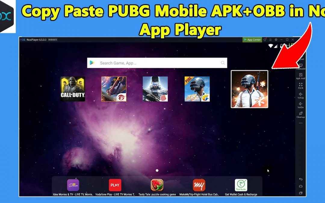 How to import .apk and .obb file in Nox App Player Emulator PUBG Mobile 0.16.0 Latest Version