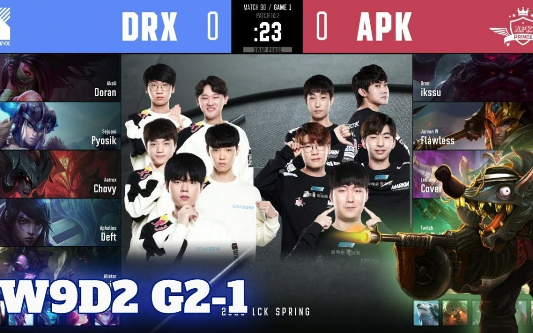 DRX vs APK – Game 1 | Week 9 Day 2 S10 LCK Spring 2020 | DragonX vs APK Prince G1 W9D2