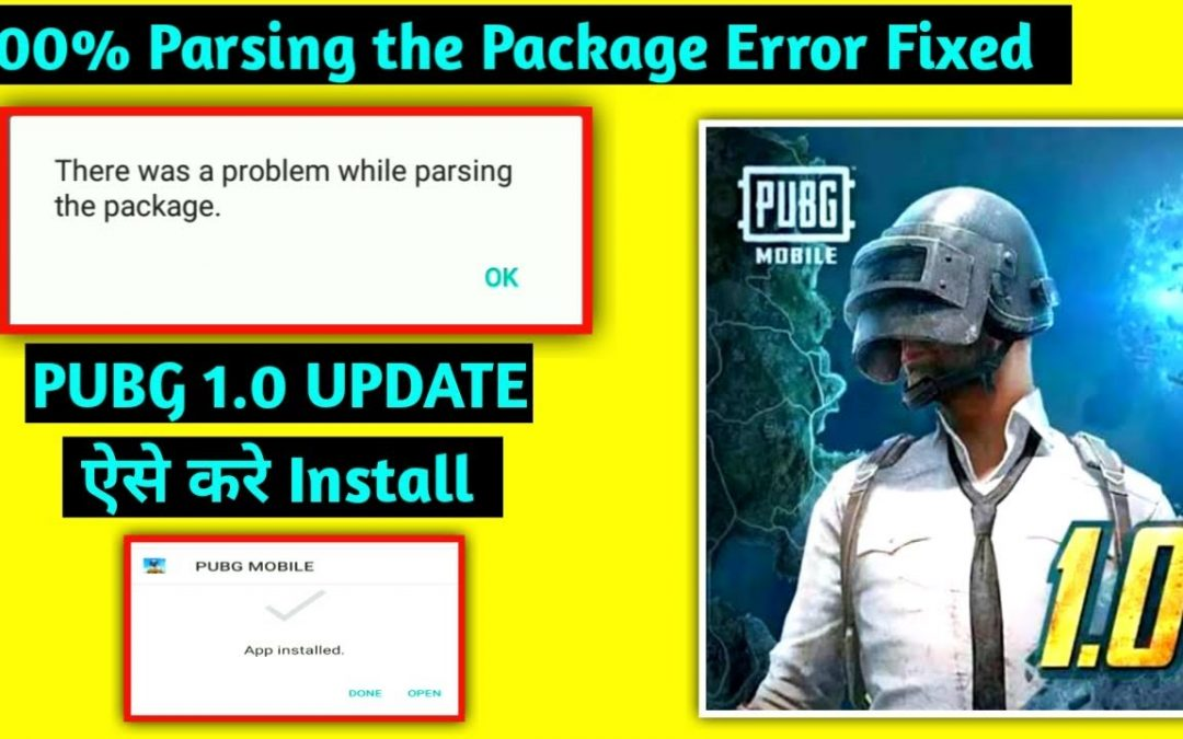 PUBG Mobile 1.0 Update Parse Error Fixed | Pubg apk not Install | Parsing the Package Problem Solve