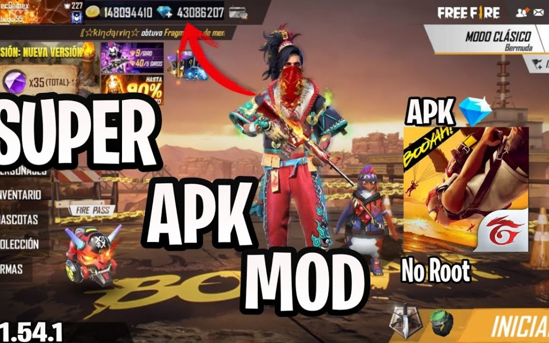 SUPER APK MOD FREE  FIRE V1.54.1 DIAMANTES ACTUALIZADOS 2020/ANTI-BAN/AUTO AIM/NO RECOIL/NO ROOT!