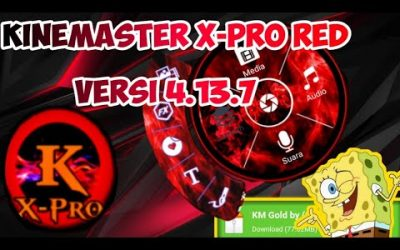 KINEMASTER X-PRO RED MOD APK VERSI 4.13.7 | VIDEO LAYER NO WATERMARK