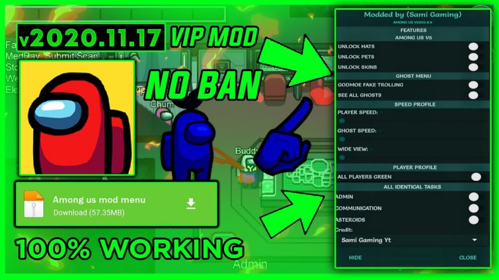 Download Modded By Sami Gaming Among Us Terupdate