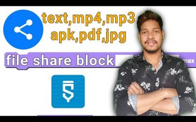Share photos videos text video APK files activity block in sketchware/Aauraparti