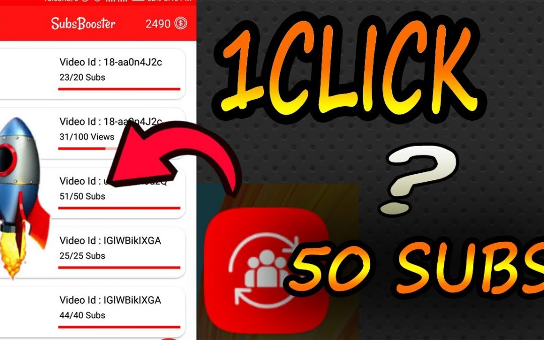 Subsbooster best SuB4SuB subscribers views & likes apk || how to get subscribers on youtube fast in