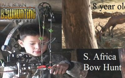 8 yr old arrows Hartebeest in Africa with perfect shot! how to shoot big game at young age