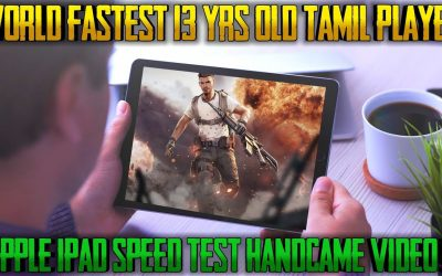 APPLE I PAD SPEED TEST [HAND CAM VIDEO] INDIAS 13 YR OLD FASTEST 4 FINGER PLAYER|| RUN GAMING TAMIL