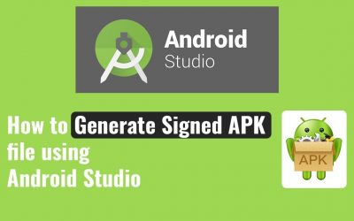 How to Generate Signed APK file using Android Studio