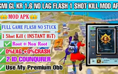 BGMI GL KR 1.6 BRUTAL FLASH MOD APK NON ROOT & ROOT  INSTANT HIT FOV BULLET TRACKING WITH FOV AIMBOT
