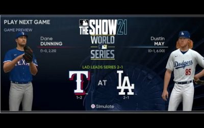 MLB The Show 21 Texas Rangers Franchise Yr 2 World Series Game 4 vs Los Angeles Dodgers
